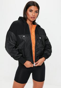 black-oversized-hooded-bomber-jacket